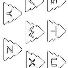 Weihnachtsbuchstaben S bis Z