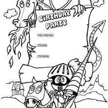 Drachen: Geburtstagsparty Einladung