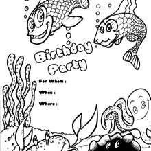 Fisch: Geburtstagsparty Einladung