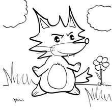 Kleiner Fuchs zum Ausmalen