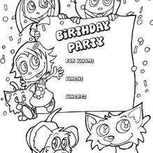 Kinder und Tiere: Geburtstagsparty Einladung