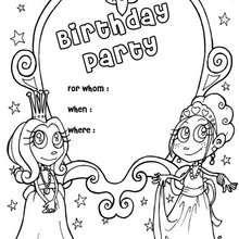 Prinzessin: Geburtstagsparty Einladung