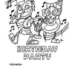 Roboter: Geburtstagsparty Einladung