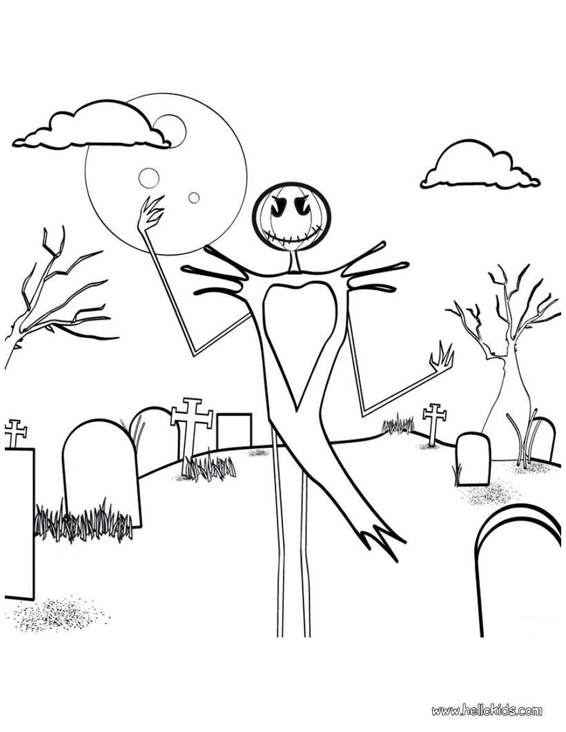 Halloween Vogelscheuche Zum Ausmalen Zum Ausmalen De Hellokids Com