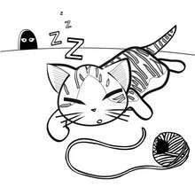 Süßes Kätzchen zum Ausmalen