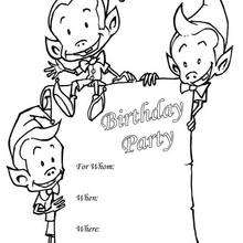 Wichtel: Geburtstagsparty Einladung