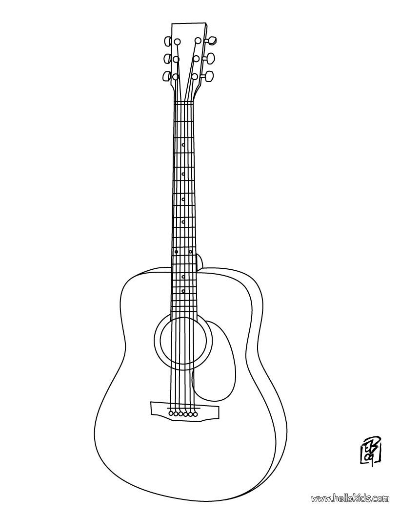 gitarre zum ausmalen zum ausmalen. Black Bedroom Furniture Sets. Home Design Ideas