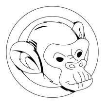 Affenkopf zum Ausmalen