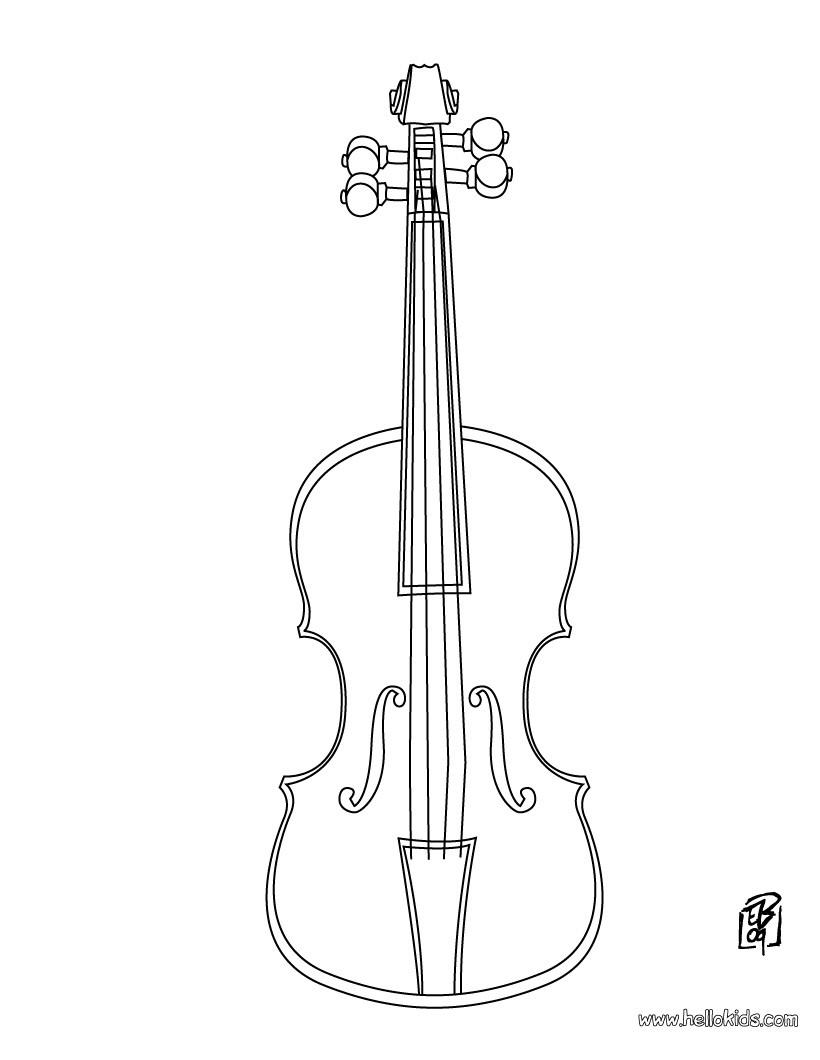 Geige Zum Ausmalen Zum Ausmalen