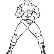 Wrestler Batista zum Ausmalen