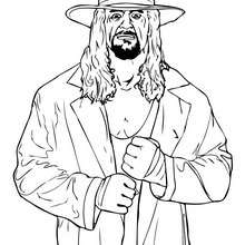 Wrestler The undertaker zum Ausmalen