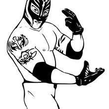 Rey Mysterio zum Ausmalen