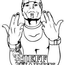Wrestler Jeff Hardy zum Ausmalen