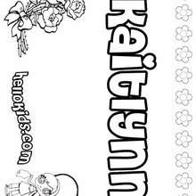 Kaitlynn - Coloring page - NAME coloring pages - GIRLS NAME coloring pages - Letter K