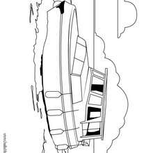 Rettungsboot zum Ausmalen