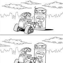 WALL-E verliebt zum Ausmalen