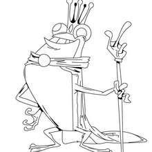 Der Froschkönig zum Ausmalen