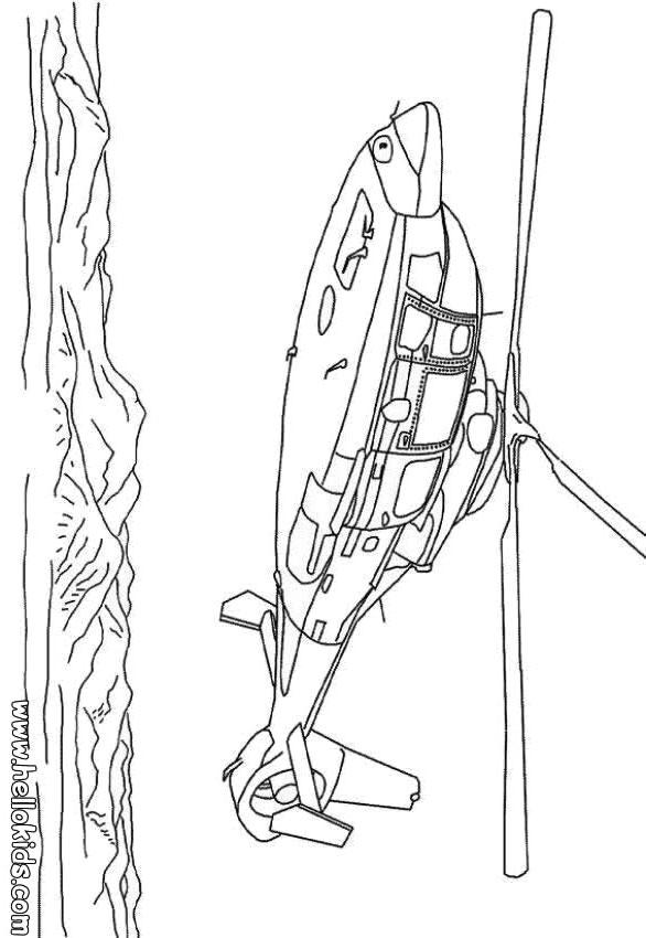 Hubschrauber zum ausmalen zum ausmalen - de.hellokids.com