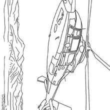 Hubschrauber zum Ausmalen