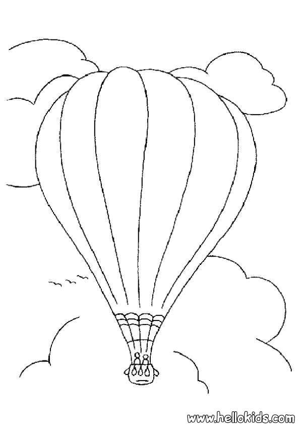 heißluftballon ausmalen