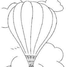 Heißluftballon zum Ausmalen