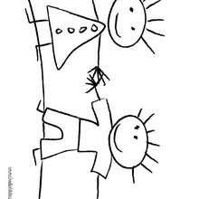 Kinder malen zum Ausmalen