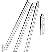 Bleistifte zum Ausmalen