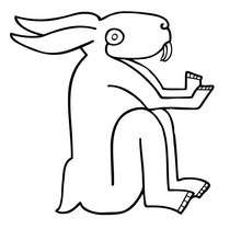 Kaninchen zum Ausmalen