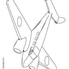 Doppelmotoriges Flugzeug zum Ausmalen