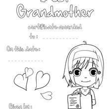 Beste Großmutter Urkunde