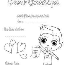 Bester Großvater Urkunde zum Ausmalen