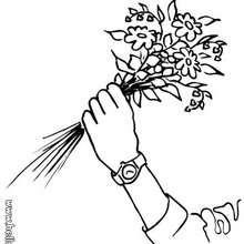 Blumenstrauß zum Ausmalen