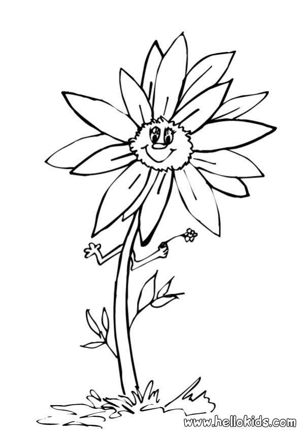 sonnenblume zum ausmalen zum ausmalen  dehellokids