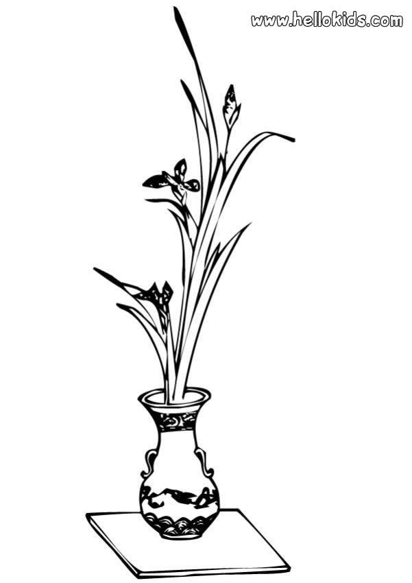 Blumenvase zum ausmalen zum ausmalen