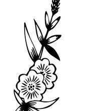 Wildblume zum Ausmalen