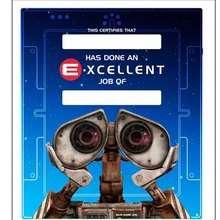 WALL E Urkunde für sehr gute Leistungen