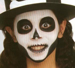 Halloweensch del schminke bastelanleitungen for Pinturas de cara para halloween