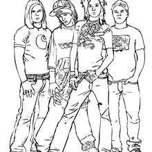 Tokio Hotel zum Ausmalen