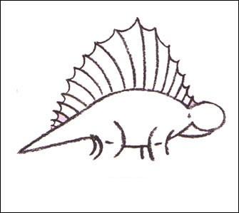 Wie man einen Dimetrodon malt