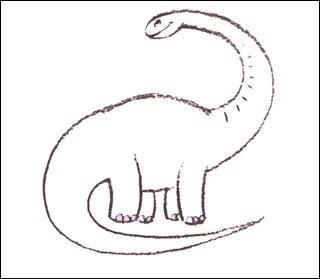 Wie man einen Diplodocus malt