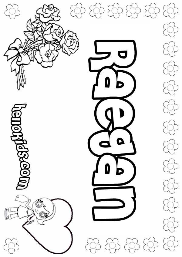 Raelynn Name Coloring Page