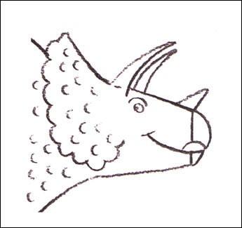 Wie man einen Triceratops malt