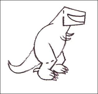 Wie man einen Tyrannosaurus malt