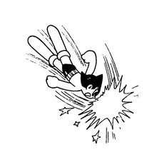 Bong Fliegender Astro Boy zum Ausmalen