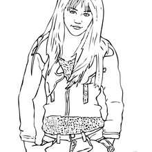 Die coole Miley Cyrus / Hannah Montana zum Ausmalen