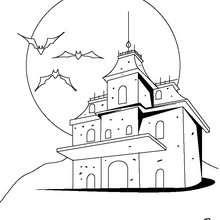 Halloween Spukhaus zum Ausmalen