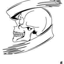 Halloween Totenkopf zum Ausmalen
