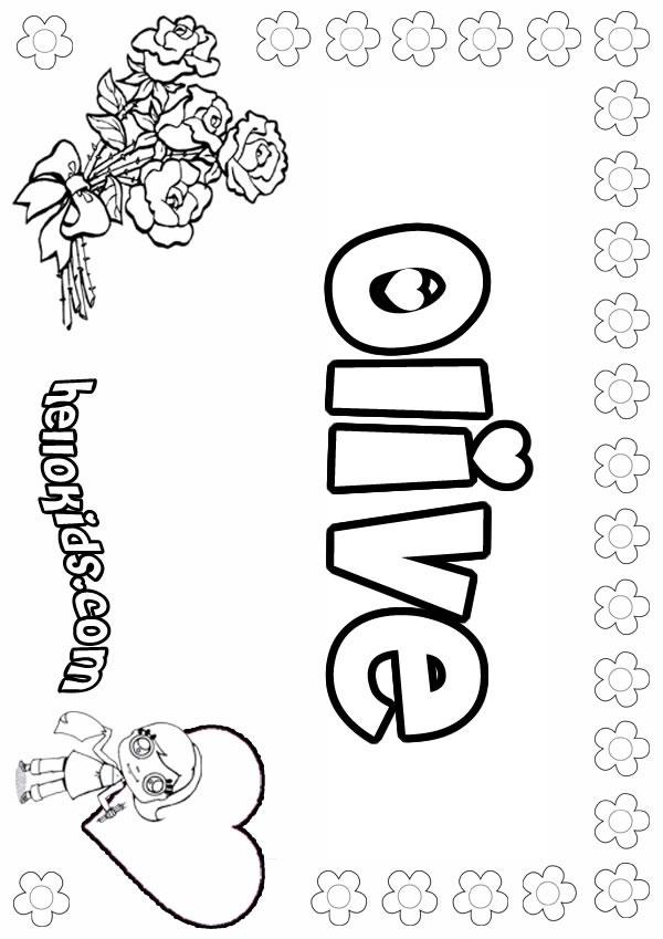 olive coloring page - olive zum ausmalen