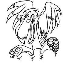 Drachen-Pelikanmonster zum Ausmalen