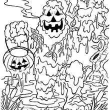 Halloween Schlammmonster zum Ausmalen